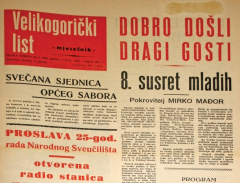 velikogoricki list iz 1970 godine naslovnica IMG_5604